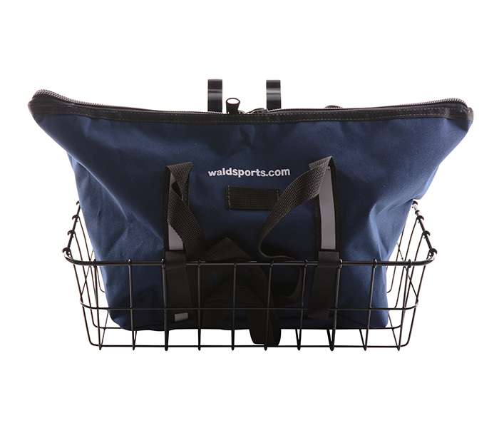 Wald's 1372 Front Basket & Navy Blue Bag Combo