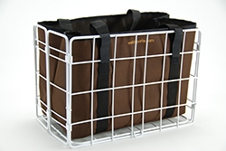 582 Rear Folding Basket & 3558BRBAG Brown Liner Combo