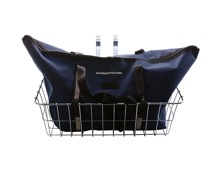 Wald's 1392 Front Basket & Navy Blue Bag Combo